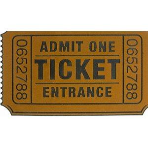 Paillasson Ticketde Cinéma