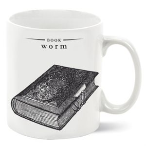 Book Worm Porcelain Mug