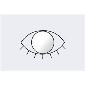 Cyclops Medium Wall mirror-Black