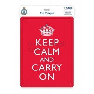 Keep Calm Tin Plaque