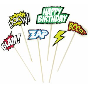 Comic Cake toppers