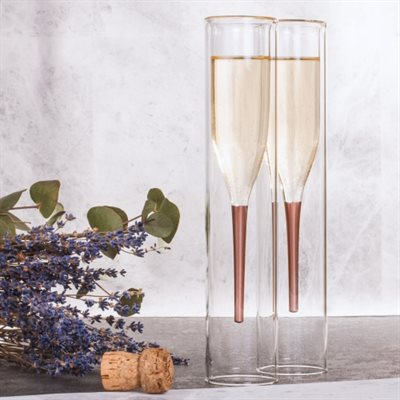 Inside Out Champagne flutes